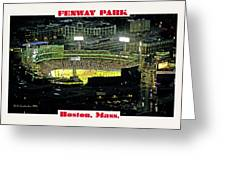 Night Baseball Fenway Park Boston Massachusetts Greeting Card by A Gurmankin