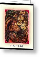 Night Bird Greeting Card by YoMamaBird Rhonda