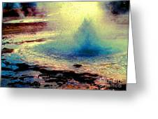 Night Falls On The Yellowstone Greeting Card by Ann Johndro-Collins