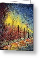 Night In The Park II Greeting Card by Ash Hussein