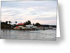 Night is Coming at Bocas Greeting Card by John Rizzuto