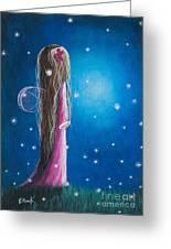 Night Of 50 Wishes Fairy Print By Shawna Erback Greeting Card by Shawna Erback