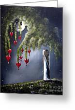 Night Of The Bleeding Hearts By Shawna Erback Greeting Card by Shawna Erback