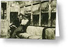 Night On The El Train Greeting Card by Edward Hopper