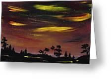 Night Scene Greeting Card by Anastasiya Malakhova