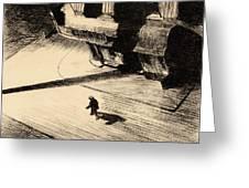 Night Shadows Greeting Card by Edward Hopper