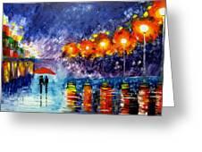 Night Time Walk Greeting Card by Mariana Stauffer