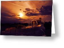 Night Train Greeting Card by Jelena Jovanovic