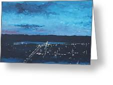 Nightfall At Garvin Greeting Card by Monica Veraguth