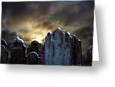 Nightmare Hill Greeting Card by Svetlana Sewell