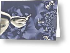 Nights In White Satin Greeting Card by Absinthe Art By Michelle LeAnn Scott