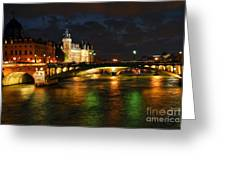 Nighttime Paris Greeting Card by Elena Elisseeva