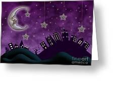 Nighty Night Greeting Card by Juli Scalzi