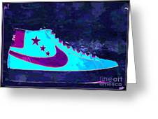 Nike Blazer Greeting Card by Alfie Borg