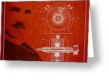Nikola Tesla Patent from 1891 Greeting Card by Aged Pixel