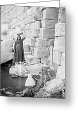 Nilometer On Elephantine Island, Egypt Greeting Card by Science Photo Library