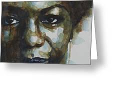 Nina Simone Greeting Card by Paul Lovering