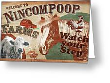 Nincompoop Farms Greeting Card by JQ Licensing
