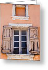 Nine Panes Minus One Greeting Card by Bob Phillips