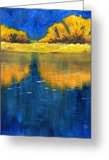 Nisqually Reflection Greeting Card by Nancy Merkle