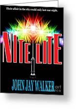 Nite Lite Book Cover Greeting Card by Mike Nellums