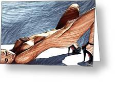 Niu Xvii.  2013  90/51 Cm. Greeting Card by Tautvydas Davainis
