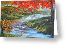 Nixon's Brilliant View Of Fall Alongside The Rapidan River Greeting Card by Lee Nixon