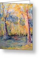 Nlr Lake Study  Greeting Card by Robin Miller-Bookhout