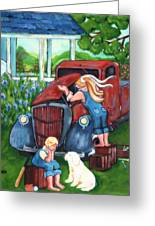 No Play Time Right Now Greeting Card by MarLa Hoover