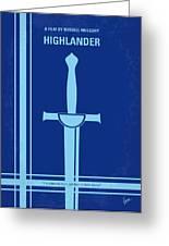 No034 My Highlander Minimal Movie Poster.jpg Greeting Card by Chungkong Art