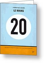 No038 My Le Mans Minimal Movie Poster Greeting Card by Chungkong Art