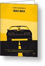 No051 My Mad Max Minimal Movie Poster Greeting Card by Chungkong Art