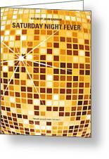 No074 My Saturday Night Fever Minimal Movie Poster Greeting Card by Chungkong Art