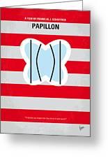 No098 My Papillon Minimal Movie Poster Greeting Card by Chungkong Art