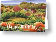 no10 Happy Birthday Greeting Card by Walt Curlee