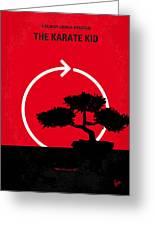 No125 My Karate Kid Minimal Movie Poster Greeting Card by Chungkong Art