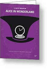 No140 My Alice In Wonderland Minimal Movie Poster Greeting Card by Chungkong Art