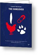 No145 My The Hangover Minimal Movie Poster Greeting Card by Chungkong Art