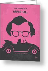 No147 My Annie Hall Minimal Movie Poster Greeting Card by Chungkong Art