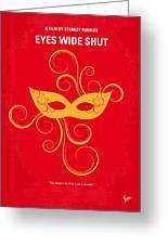 No164 My Eyes Wide Shut Minimal Movie Poster Greeting Card by Chungkong Art