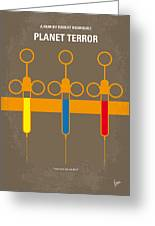 No165 My Planet Terror Minimal Movie Poster Greeting Card by Chungkong Art
