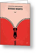 No167 My Boogie Nights Minimal Movie Poster Greeting Card by Chungkong Art