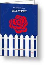 No170 My Blue Velvet Minimal Movie Poster Greeting Card by Chungkong Art