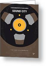 No181 My Sound City Minimal Movie Poster Greeting Card by Chungkong Art