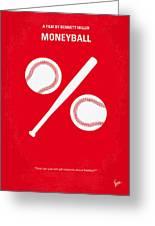 No191 My Moneyball Minimal Movie Poster Greeting Card by Chungkong Art