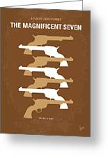 No197 My The Magnificent Seven Minimal Movie Poster Greeting Card by Chungkong Art