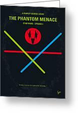 No223 My Star Wars Episode I The Phantom Menace Minimal Movie Poster Greeting Card by Chungkong Art