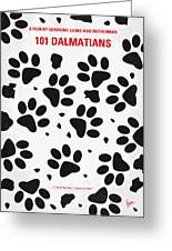 No229 My 101 Dalmatians Minimal Movie Poster Greeting Card by Chungkong Art