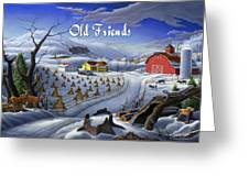 no3 Old Friends  Greeting Card by Walt Curlee