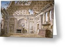 Monastery Of St Trinita Del Monte Greeting Card by Charles Louis Clerisseau